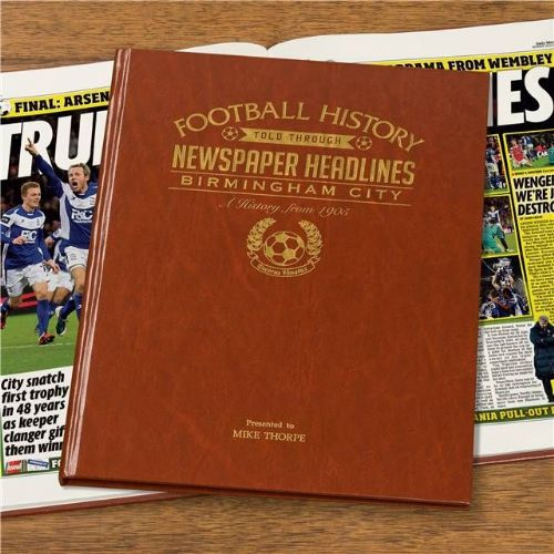 Personalised Birmingham Football Book